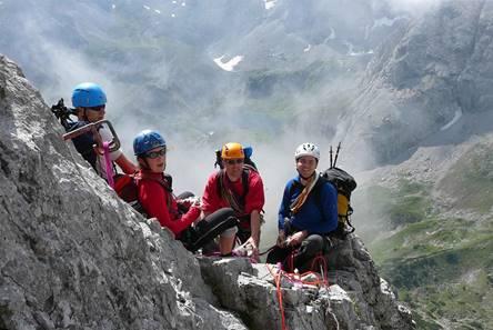 Klettersteig Coburger Hütte : Klettersteigtouren auf seebenen steig taja kante und sonnenspitze
